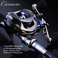 baitcasting rod and reel - 2 SEC M MH Power M Casting Rod Set BB Baitcasting Reel Fishing Lures Ultralight Lure Rod Fishing Rod And Reel Set