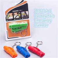 Wholesale 100pc in Car Window Glass Safety Emergency Hammer Seat Belt Cutter Tool Keychain A0147