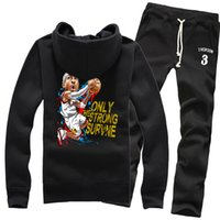answer pants - New Basketball Allen Iverson The Answer Dunk Spring Winter Pure Cotton Fleece Hoodies Sweater Coat Jackets Sports Pants Tracksuit