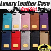 Cheap For iphone 6 6S 5 SE Plus Luxury Retro leather TPU Hard Back Case Cover with Credit Card slots for iphone6 5S 6plus