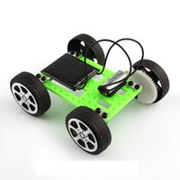 Wholesale Mini Solar Toy DIY Car Children Educational Puzzle IQ Gadget Robot Racing Cars Toy Gadget new design