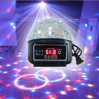 Wholesale 6color Light Magic Crystal Ball W Laser Stage Light Model Disco Party Led Christmas Lighting Sound Control Laser Projector