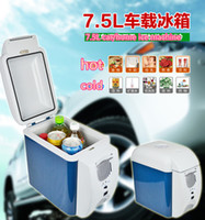 Wholesale 7 L mini car refrigerator small refrigerator car home heating insulation dual refrigerator cosmetics refrigerated breast milk