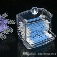 asia tips - New Design Storage Box Clear Acrylic Cotton Swab Q tip Storage Holder Box Cosmetic Makeup Case