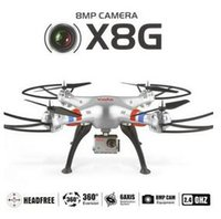 Cheap Wholesale-New Arrival Syma X8G Drone with 8 MP HD Camera GoPro Applicable RC Quadcopter Headless Big rc copter hobby grade RC Helicopter