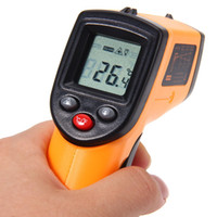 Wholesale GM320 Digital Laser LCD Display Non Contact IR Infrared Thermometer to C Auto Temperature Meter Sensor Gun