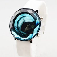 Wholesale newest hot sale multicolor crystal face silicone strap fashionable LED watch forchildren students factory
