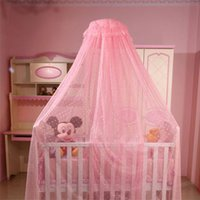 baby nursery curtains - Baby Crib Netting Princess Lace Canopy Toddler Infant Mosquito Net with without Stand Nursery Hanging Dome Curtains
