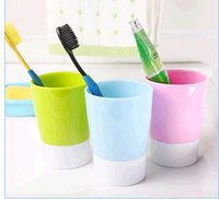 Wholesale Daily provisions cup Plastic creative couple gargle wash gargle cup toothbrush cup brush my teeth cup hotel