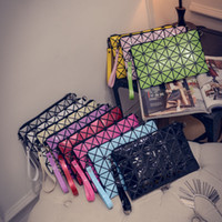 Wholesale Brand Diamond Lattice Wallets For Women Ladies PU Leather Mosaic Quilted Clutch Bag Rhombus Geometric Purses Messenger Wristlets Bags