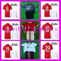bayern kids - 3AAA Bayern Munich Kids Jerseys child teens Shirt Robben Alonso Muller Vidal Wholesalers Jersey rugby Away Home