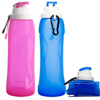 Wholesale New Outdoor Kettle ml Protable Collapsible Folding Drink Water Bottle Kettle Cup Silicone Sports