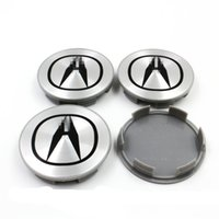 acura center - NEW ACURA PC SET SILVER WHEEL CENTER HUB COVER LOGO CAPS MM RIM EMBLEM BADGE