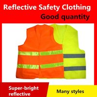 Wholesale 2016 High Visibility Reflective Safety Vest Coat Sanitation Vest Traffic Safety warning clothes vest Safety working waistcoat cloth A0238