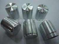 aluminum shaft collar - Silver Aluminum Potentiometer Encoder Knobs x17mm Half Shaft Type shaft collar stainless steel shaft motor