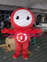 arm puppets - Enjoyable Red Puppet Puppetry Doll Maumet Toy Figurine Mascot Costume Cartoon Character Mascotte Big Belly Long Arms No FS