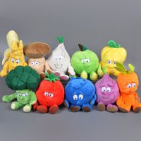 baby collectibles - 2016 Cartoon Fruit Vegetable Plush toy Kawaii stuffed Doll Apple Banana Baby Toy Funny Hot Toy Stuffed Collectibles Doll Jouets