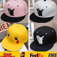 Wholesale New Poke Pikachu Hat Cap Baseball Caps Adult Mesh Hat Women Men Unisex Hip Hop Costume Cartoon Mesh Trucker Visor Snapbacks Hat ZJ H15