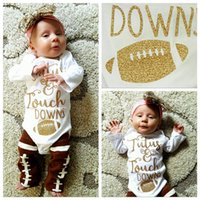 Wholesale Baby Autumn Long Sleeve Rompers Infant Toddlers Booter Gilding Print Pure Cotton Jumpsuit Ins Newborn One Pieces Bodysuit