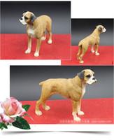 animal umbrella stands - official new resin crafts standing boxer moderl for home decoration creative desktop decoration dog model pomeranian