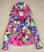 Wholesale genuine Gsou snow ski suit skiwear board dual board waterproof ski wear warm outdoor snowboarding jacket for women