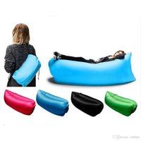 Wholesale Lamzac Hangout Light Weight Inflatable Sleeping Bag Large Bean Bag Inflatable Lounge Chair Comfortable Seat Sofa Air Sofa sleep Bag