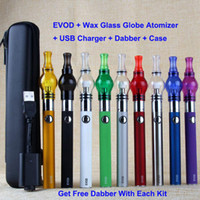 electronic cigarette pen - E Pen Wax Glass Globe Ceramic Coil Wax Tank Atomizer Electronic Cigarette eGo EVOD mAh Vape Starter Kit
