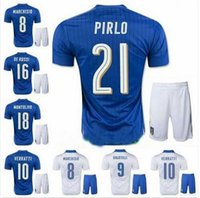 Cheap 16 European Cup Italy soccer Jersey kits top PIRLO El Shaarawy Balotelli Verratti MARCHISIO national team football shirts kits
