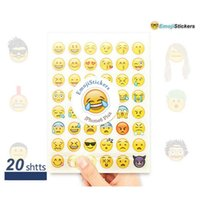 Wholesale Cute Emoji Stickers Ultra Thin HD Multi Face Expression Stickers Upgrade DIY Stickers Sets for Kids P012