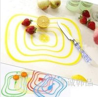 Wholesale Families Ultra thin fashion small cutting board cut fruit plate two are available g