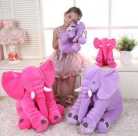 best lumbar pillow - 6 color sizes elephant pillow baby doll children sleep pillow birthday gift INS Lumbar Pillow Long Nose Elephant Doll Soft Plush best