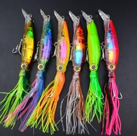 Wholesale New set Sleeve fish Fishing Lures Plastic Squid Crank Bait Tackle cm g H210565