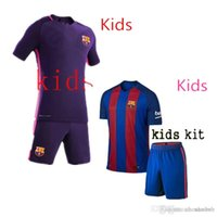 Wholesale Barcelona Kids Best Quality Customized Home Away Jersey Camiseta de Neymar JR Messi Suarez A Iniesta Maillot Barce Fre