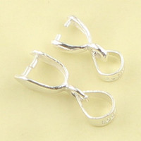 bail hook - 925 silver buttons Clip Pendant buckle Melon seeds Necklace button Buckle accessories DIY Solid Sterling Silver Bail Clasp Hook