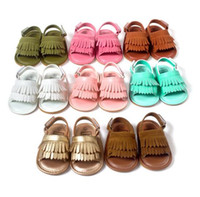 baby summer sandals - New Summer baby moccasins Tassels kids moccs baby shoes kids sandals first walker shoes boys girls shoes new designed Multy Color