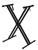 Wholesale Folding Metal Music Keyboard Electric Piano Dual Tube Stand Standard Rack New
