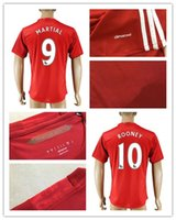 Jersey 16-17 calidad de Tailandia Manchester Hombres Inicio del fútbol del rojo # 10 ROONEY CARRICK SHAW Degea MATA etc jerseys del fútbol