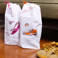 Wholesale 2 set NEW Waterproof shoes storage bag pvc tote travel clothing miscellaneously ziplock bag shoe covers