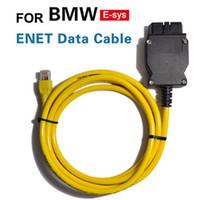 Wholesale New ESYS V50 Data Cable For bmw ENET Ethernet to OBD OBD2 Interface Data E SYS ICOM Coding for F serie