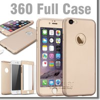 apple pc package - 360 Degree Coverage Tempered Glass Screen protector Hard PC Case Cover Full Body For iPhone iPhone S Plus S with Retail Package