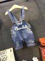 Wholesale 2016 baby clothing Blue Denim Overalls Baby Kids Summer Suspender Pants Children Pants Baby Jeans Denim Trouser Toddler Suspenders