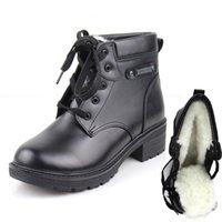 Wholesale women winter boots bota militar warm shoes for snow bottines cuir femmelaarzen damesgothic shoesbotas cuero genuino mujerbotas de mujer