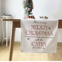 Wholesale Christmas Theme Table Runner White Cotton cm Top Grade Table Flag European style Home Textiles MOQ Piece
