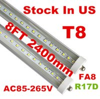 Wholesale Single Pin W FA8 Led Tube Lights m mm ft SMD T8 Led Tube Lights Warm Pure Cool White AC V CE