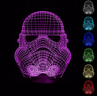 Wholesale Warrier Star War D Optical Illusion Light Colorful LEDs Acrylic Light Panel AA Battery or DC V Factory
