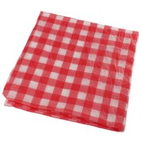 Wholesale Red Gingham Plastic Disposable party Tablecloth Tablecover Party Outdoor Picnic Check Oil Cloth Yardage Tablecloth One time