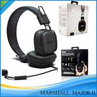 Cheap Marshall Major MK II 2 Black Headphones New Generation Headset Remote Mic 2nd pk MARSHALL MONITOR Se215 AAA quality