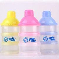 No Derramamiento del bebé Leche en Polvo 3 del surtidor portátiles estuches de almacenamiento de leche en polvo lindo envase 100% nuevo y de buena calidad