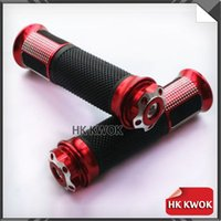 Wholesale 1 Pair Red Motorcycle Handlebar Grips quot Handle Bar Sports Bikes For Modifying For Yamaha Suzuki Honda