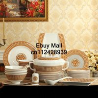 Wholesale Jingdezhen porcelain tableware cutlery sets bone china tableware suit